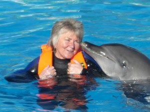 Kiss from the dolphin