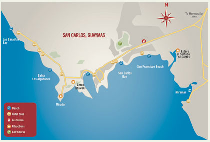 San Carlos Sonora Mexico Map.Things To Do While In San Carlos